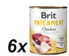 Brit Paté & Meat Chicken 6x800g