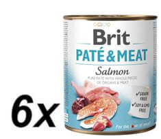Brit Paté & Meat Salmon 6x800g