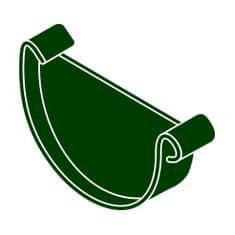 LanitPlast Čelo žlabu RG 100 půlkulaté zelená barva