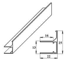 LanitPlast AL ukončovací / okrajový U/F-profil 10 mm 2.10 m