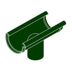 LanitPlast Kotlík DN 100/90 půlkulatý zelená barva