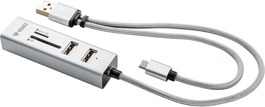 Yenkee YHC 102SR USB OTG COMBO HUB + čtečka 45012402