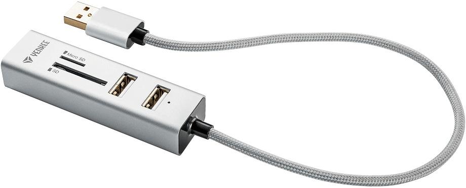 Yenkee YHC 101SR USB COMBO HUB + čtečka 45012401