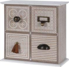 Koopman Dřevěná skříňka se 4 šuplíky