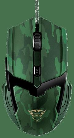 Trust gaming miška GXT 101C, zelena