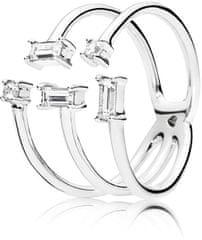 Pandora Stříbrný otevřený prsten 197527CZ stříbro 925/1000