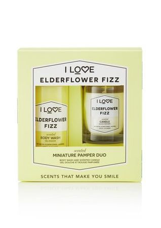 I Love Cosmetics Zestaw podarunkowy z Elderflower Fizz ( Body Wash & Candle)