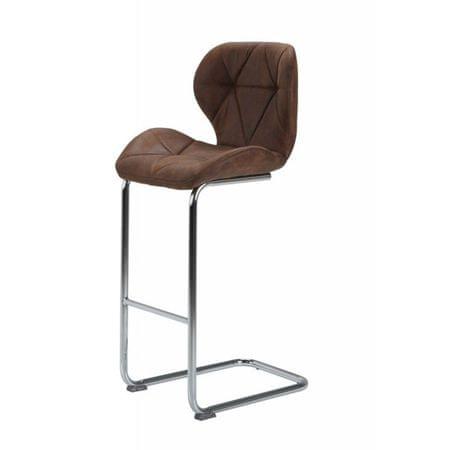 Barski stol Rain, 2 kosa, rjav