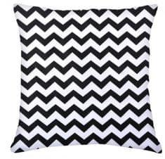 My Best Home Bavlněný polštář WAVES 100% bavlna, bílá/černá, 45 × 45 cm