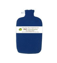 Hugo Frosch Termofor Eco Classic Comfort s fleecovým obalem - modrý