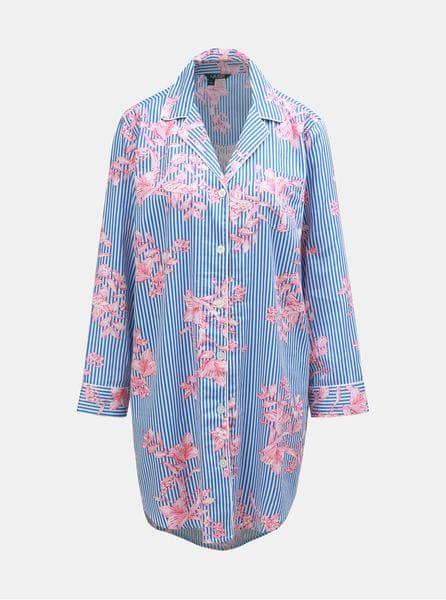 Lauren Ralph Lauren růžovo-modrá květovaná noční košile M 76b5b2ceaf