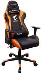Gigabyte Aorus AGC300 gaming stol, črno-oranžen