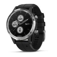 Garmin smartwatch fénix 5 Plus Silver with Black band