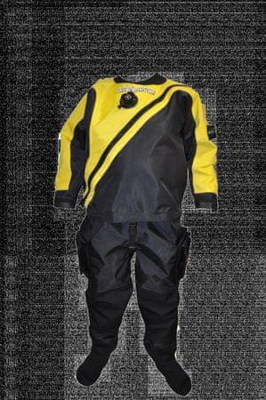 Oblek trilaminátový SOLO LIGHT - barva dle výběru, Dive system, žlutá, M Slim