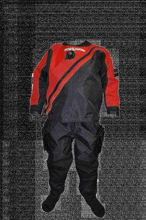 Oblek trilaminátový SOLO LIGHT - barva dle výběru, Dive system, červená, XL Slim