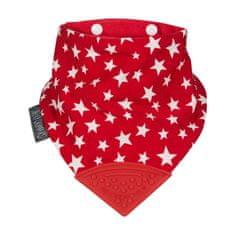 Cheeky Chompers rutica z grizalom, troslojna, rdeča z zvezdicami