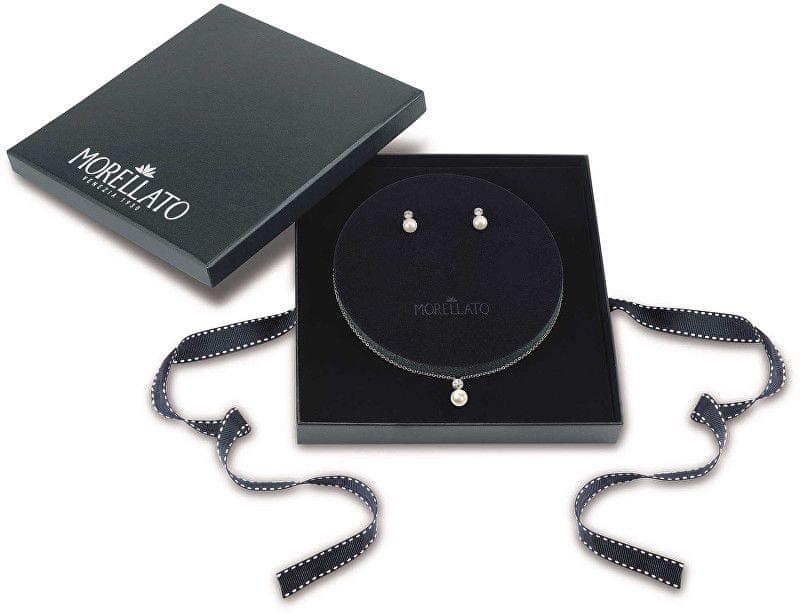 Morellato Stříbrná sada šperků s perlami Perla Essenziale SANH09 (náušnice, řetízek, přívěsek) stříbro 925/1000