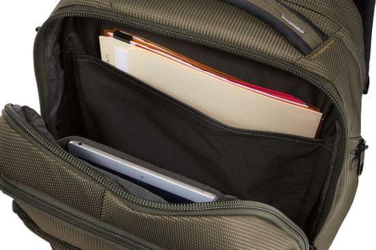 Thule nahrbtnik za prenosnik Crossover 2 Backpack, Forest Night, 30 L, rjavo zelen