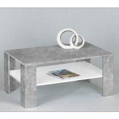 Klubska miza Nodo, bela + cement