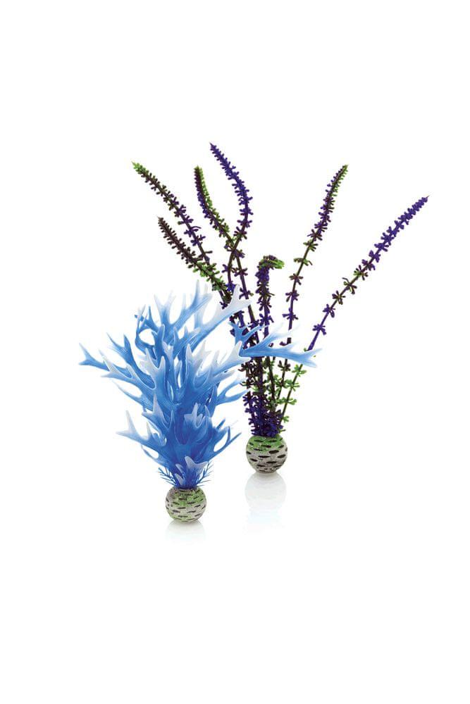 Biorb rostliny střední modré a fialové 2 ks, 20 cm a 29 cm 46059