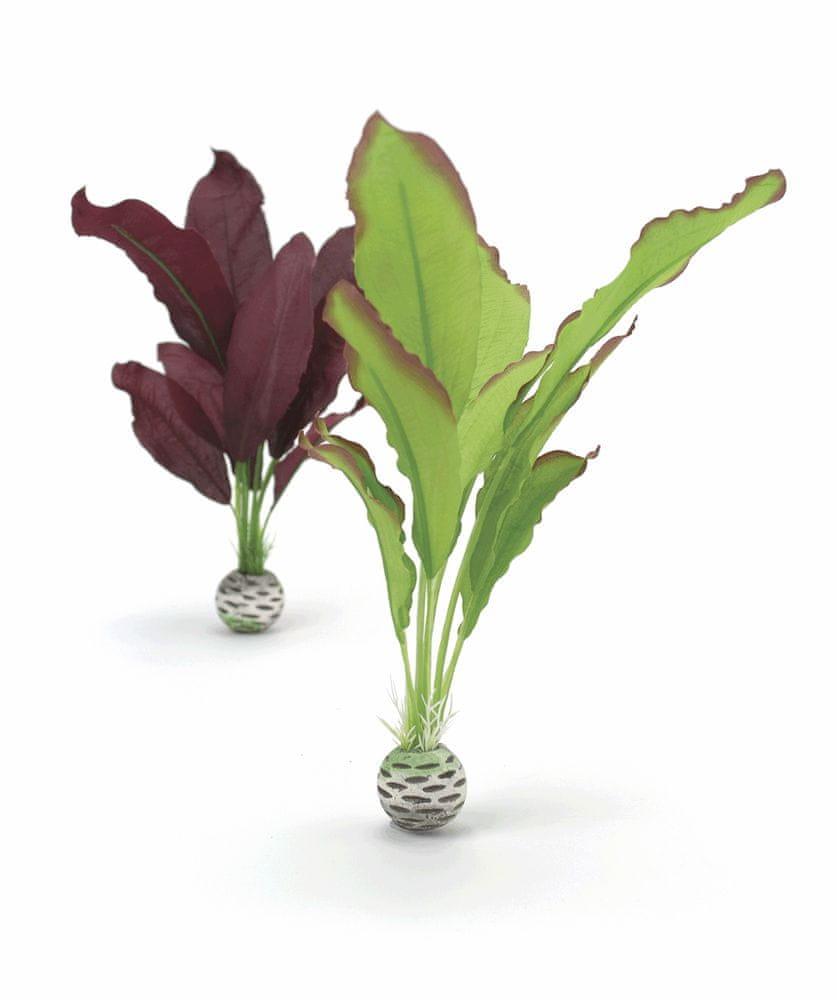 Biorb 46101 hedvábné rostliny střední, zelené a fialová, 2 ks, 20 cm a 29 cm