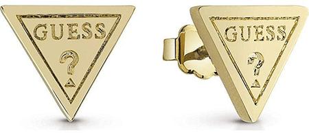 Guess Pozlacené trojúhelníkové náušnice UBE83111