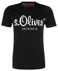 s.Oliver Pánské triko 13.901.32.4004.9999 Black