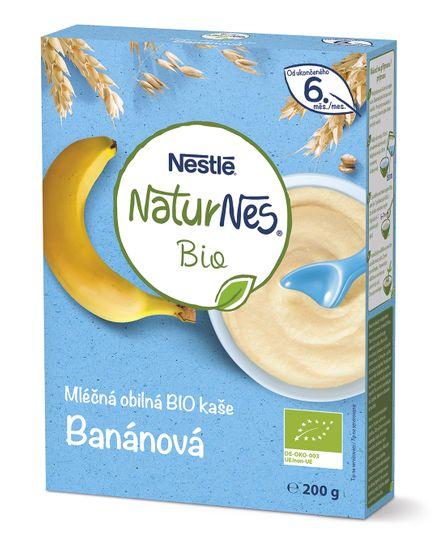 Nestlé Naturnes BIO mléčná kaše Banánová 9x200 g