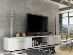 Televizní stolek MOLTON RTV, bílý mat
