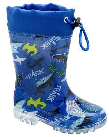 KTR® kalosze chłopiece w rekiny, 23, niebieskie