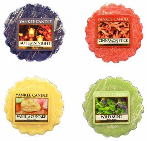 bf7839921d Yankee Candle Sada vonných vosků 4 ks (4 × 22 g) Autumn Night   Cinnamon  Stick   Vanilla Cupcake   Wild Mint