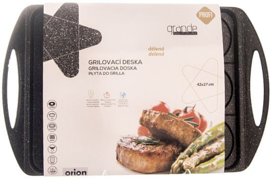 Orion Grilovacia doska delená GRANDE 42 x 27 x 5,5 cm
