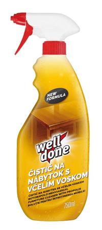 Well Done Čistič na nábytok so včelím voskom 750 ml