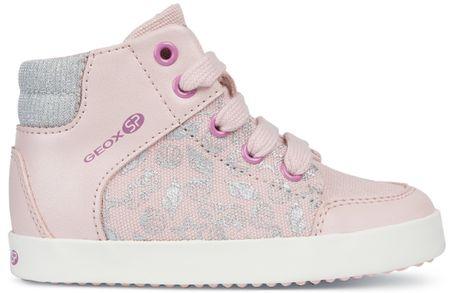 Geox dievčenské členkové tenisky Gisli 24 ružová  cbefec810d