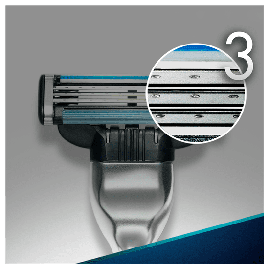 Gillette ročni brivnik Mach 3 + 4 nadomestne glave + držalo