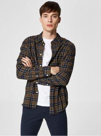 Selected Homme modro-zelená kostkovaná košile XL