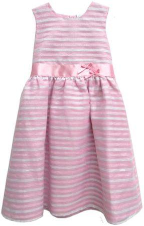 Topo csíkos lány ruha 92 rózsaszín