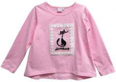 Topo dekliška majica z mačko, 110, roza