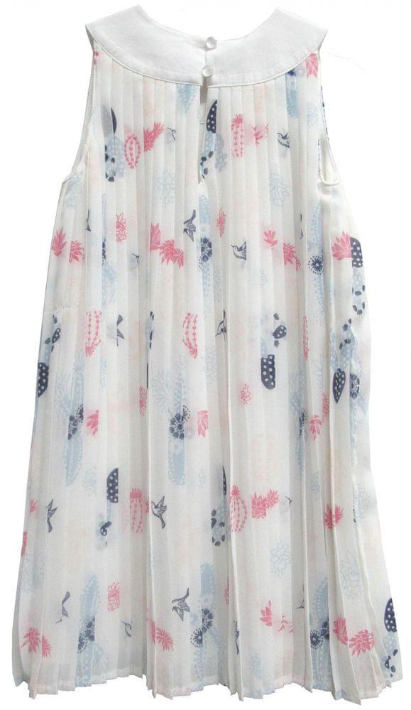 Topo dívčí plisované šaty 92 bílá