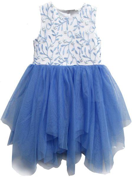 e467bcd8eaa Topo dívčí šaty s tylovou sukní 140 modrá