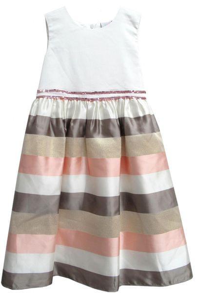 Topo dívčí šaty s pruhovanou sukní 122 vícebarevná
