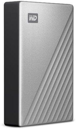 Western Digital dysk zewnętrzny My Passport Ultra 4TB, srebrny (WDBFTM0040BSL-WESN)