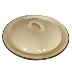 Banquet Pokrievka smaltovaná 20 × 3 cm, béžová