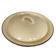 Banquet Poklice smaltovaná 24 × 3,2 cm, béžová