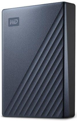 Western Digital My Passport Ultra 4TB, modrá/černá (WDBFTM0040BBL-WESN)