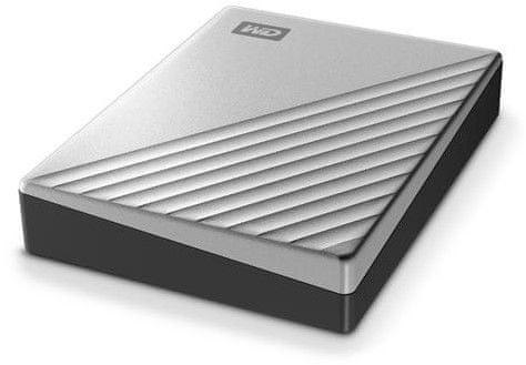 Western Digital My Passport Ultra for Mac 4TB, stříbrná (WDBPMV0040BSL-WESN)