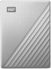 WD My Passport Ultra for Mac 4TB, stříbrná (WDBPMV0040BSL-WESN)