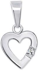 Brilio Silver Romantikus szív medál446 001 00367 04 - 0,57 g ezüst 925/1000