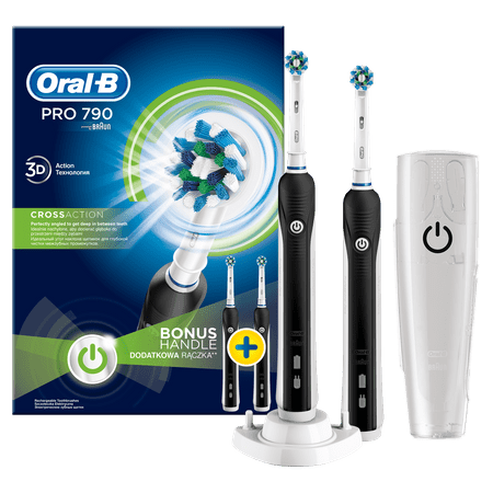 Oral-B električna zubna četkica PRO790 DUO CrossAction, set