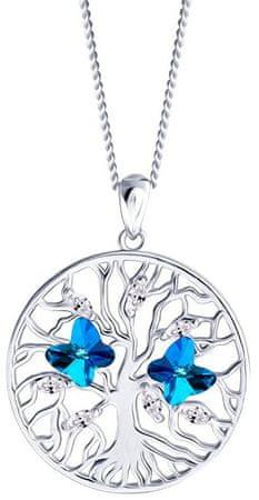 Preciosa Srebrny naszyjnik z kryształkami Tree of Life 6072 46 srebro 925/1000